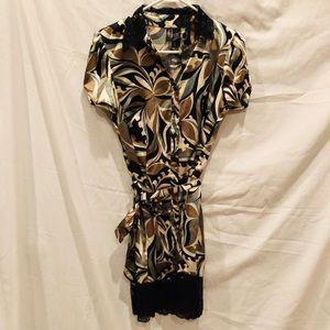 MSK Animal Print Dress Small